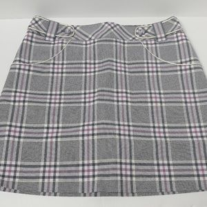 Cutter & Buck Purple Plaid Mini Skort